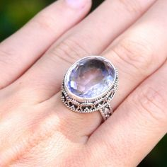 Amythest Sterling Ring. BRAND NEW! Gorgeous Sterling silver amethyst ring. Jewelry Rings