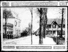 Vaartweg, richting centrum Hilversum rond 1903/1904