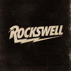 Rockswell Logo Design on Behance Band Logo Design, Badge Design, Text Design, Design Design, Typography Inspiration, Graphic Design Inspiration, Graphic Design Typography, Branding Design, 80s Logo