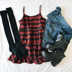 Cute dress. But with converse