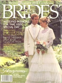 Wedding dress on the cover of a brides magazine in Vintage Wedding Photos, Vintage Bridal, Vintage Weddings, Types Of Wedding Gowns, Wedding Styles, Wedding Ideas, 1980s Wedding Dress, Wedding Dresses, 1970s Wedding