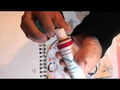 Mixed Media Art Journal Tutorial - Faber Castell Gelatos and Indian Ink Markers