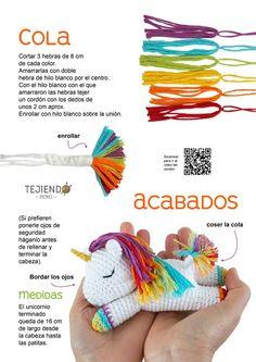 Unicornio Dormilón Amigurumi / Patrón PDF   Etsy Crochet Animal Patterns, Stuffed Animal Patterns, Crochet Patterns Amigurumi, Amigurumi Doll, Crochet Animals, Crochet Toys, Crochet Monsters, Unicorn Crafts, Crochet Instructions