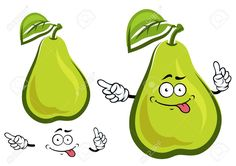 38924297-Personaje-de-dibujos-animados-divertido-fruta-pera-con-hoja-ancha-ovalada-y-piel-amarilla-verde-para-Foto-de-archivo.jpg (1300×919)