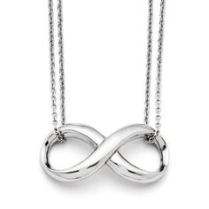 Infinity Symbol Double Strand Stainless Steel Necklace Available Exclusively at Gemologica.com