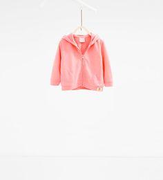 Neon hooded sweatshirt from Zara