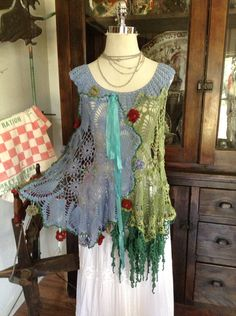 Luv Lucy crochet top Lucy's Flower Carnival  by TheVintageRaven, $150.00