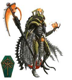 Warhammer 40k Necrons, Warhammer Fantasy, Necron Warriors, Paint Schemes, Color Schemes, Fantasy Warrior, Yellow Painting, Geek Art, Cool Paintings