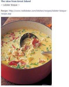Lobster Corn Chowder by Patti B – Key Ingredient Lobster Bisque. The best of the ocean — and the kitchen — fits in one little bowl. As rich and delicious as lobster bisque soup can be, it's a lobster bisque recipe that beats all. Lobster Recipes, Seafood Recipes, Chowder Recipes, Best Corn Chowder Recipe, Fish Recipes, Chicken Recipes, Think Food, I Love Food, Best Ina Garten Recipes