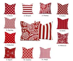 Choose any red pillow cover, cushion, decorative throw pillow, decorative pillow, accent pillow, pillow case, Paisley Pillow by ThatDutchGirlHome on Etsy