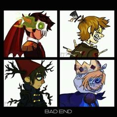 Bad End  Marco, Star vs the Forces of Evil, Dipper, Bipper, Gravity Falls, Wirt Beast!Wirt, Over the Garden Wall, OTGW, Finn, Adventure Time
