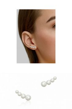59e1acb36 These pearl earrings capture the season's must-have layered look. Oh and  you won