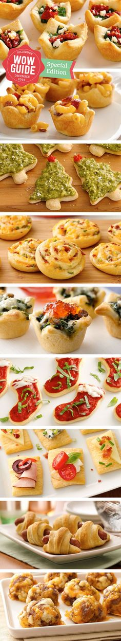 Pillsbury's best bite-size appetizers for the holiday season!