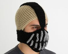 Bane Hat Batman Crochet Slouch Mens Handmade Winter by sunsfashion, $49.00