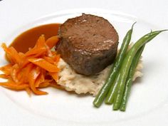 Filet Mignon over Lobster Boursin Mashed Potatoes with a Merlot Reduction Recipe : Robert Irvine : Food Network - FoodNetwork.com