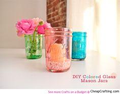 #DIY colored mason jars #masonjar #craft idea