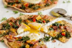 Kale Pesto Bacon Egg Breakfast Pizza is a an out of the ordinary and delicious breakfast, lunch or dinner that really takes no time at all to put together. This is a recipe you can prep for ahead of time. Frying the bacon, shaving or grating the cheese ,prepping the Kale can all be done ahead and waiting for you to use it.. Prepping ahead gives you the opportunity to make a special breakfast pizza for the kids and your husband before they leave for school and work. It would also make a…