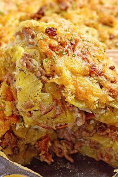 Cheesy Ground Beef and Potato Casserole