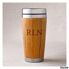 Personalized Bamboo Travel Tumbler Coffee Mug