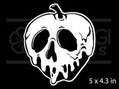 Snow White Poison Apple RARE Vinyl Decal Sticker for sale online Snow White Poison Apple, Snow White Apple, Vinyl Crafts, Vinyl Projects, Halloween Fonts, Halloween Cups, Snow White Tattoos, Apple Tattoo, Poison Apples