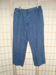Duke Haband Sz 40 x 28 Men's Relaxed Fit Medium Wash Blue Jeans 5 Pockets #DukeHaband #Relaxed