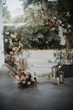 An utterly romantic dusty rose palette on a stunning round arch. ⠀⠀⠀⠀⠀⠀⠀⠀⠀ Planning & conceptualisation by Florals by… An utterly romantic dusty rose palette on a stunning round arch. ⠀⠀⠀⠀⠀⠀⠀⠀⠀ Planning & conceptualisation by Florals by… Wedding Ceremony Ideas, Wedding Altars, Wedding Ceremony Decorations, Wedding Table, Wedding Arches, Wedding Backdrops, Diy Wedding Arch Flowers, Wedding Themes, Wedding Reception