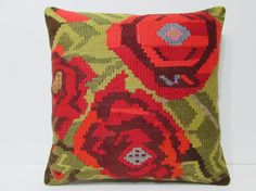 24x24 kilim pillow 24x24 large kilim rug by DECOLICKILIMPILLOWS