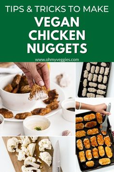 These Vegan Chicken Nuggets make a great quick lunch or dinner. They're extra crispy on the outside and taste great dipped in any of your favorite sauces. Vegan Chicken Nuggets, Chicken Nugget Recipes, Gluten Free Bread Crumbs, Nuggets Recipe, Vegan Cookbook, Vegetarian Cooking, How To Cook Chicken, A Food