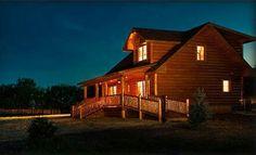 Log countryside house