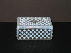 Vintage Moonstone Opalescent & Hobnail Cigarette or Trinket Covered Dish. Starting at $5