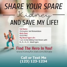 Save Me, Save My Life, Kidney Donor, Text Me, Names, Organ Transplant, Healthy, People, Health