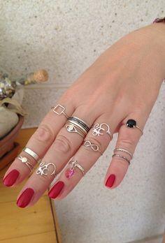 Midi & Band rings.Handmade. http://stores.ebay.ie/SilverTrend4U?_rdc=1