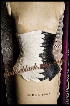 Avant Garde Circus Side Show Glove Corset by Louise by louiseblack