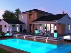 Maison à Etage 4 chambres | Construction maison Contemporaine à Etage