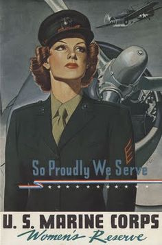 1940s - during war time women wore uniform with strong fabric, served war and did man job. I pinned this pic because it make me admire the streghth of women during this tough time