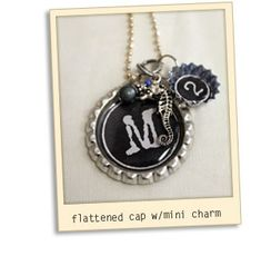 Bottle Cap Craft Ideas - I'm totally going to make these necklaces...for YW?