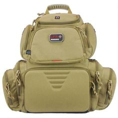G Outdoors G.P.S. Handgunner Packpack Free Standing Waterproof Pull Out Cover Tan GPS-1711BPT - 819763010849