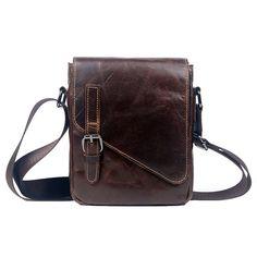 26313a1d16a2 Genda 2Archer Genuine Leather Small Shoulder Bag Messenger Satchel for Men    Click image for more
