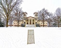 Snow days are best spent at Wofford. #Wofford #OldMain