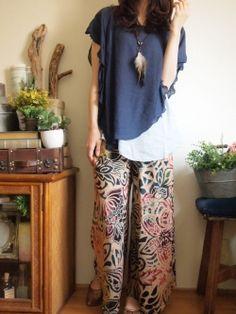 春夏コーディネート1 エスニックボヘミアンファッション|エスニックなら通販サイトshams