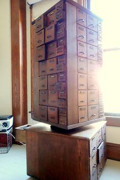 Antique Rotating Hardware Cabinet 130 Drawer by ProsserBrosVtg, $3999.00