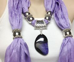 purple jewelry scarf