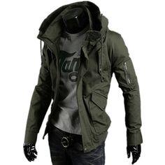 SHENGN Man Custom Funny with Hood Pocket Rolls Royce Logo Zipper Sweater