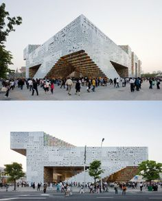 Korean Pavilion for Shanghai Expo: Mass Studies    crazy-awesome architecture combined with graphic design.