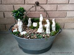 Living Creche for Christmas by Rene Robinson