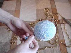 Стильные шарики из ниток своими руками. Мастер класс | Увлекательные Бонсай