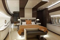 A billionaire has spent $600 million on his private jumbo jet, decking out a Boeing 747-8 with personalised renovations.