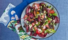 Skye Gyngell's salad of beetroot, tomatoes, goat's curd and radicchio