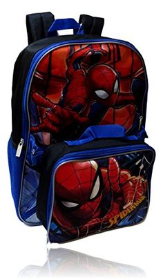 Great for GDC Marvel Spiderman Backpack W  Detachable Insulated Lunch Box  online.   19 a09df6476aa08