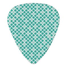 Diamonds  Arcadia Teal Guitar Pick - home gifts ideas decor special unique custom individual customized individualized